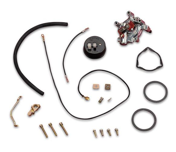 Electric Choke conversion kit Holley Shinny Finish